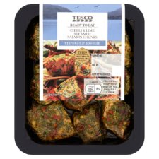 Tesco Chilli And Lime Salmon Chunks 120G