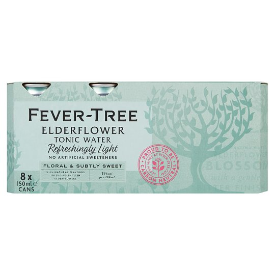 Fever Tree Light Elderflower Tonic Cans 8X150ml