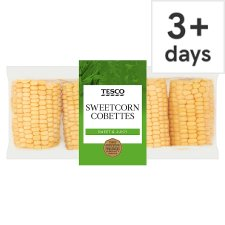 image 1 of Tesco Sweetcorn Cobettes 4 Pack