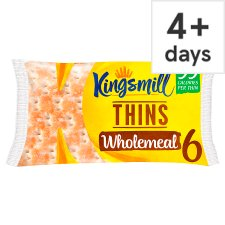 Kingsmill Wholemeal Sandwich Thins 6 Pack