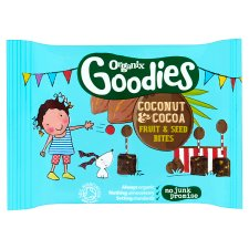 Organix Goodies Cocoa And Coconut Fruit Bites 20G