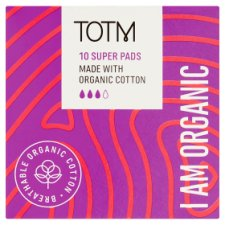 Totm Organic Cotton Super Pads 10S