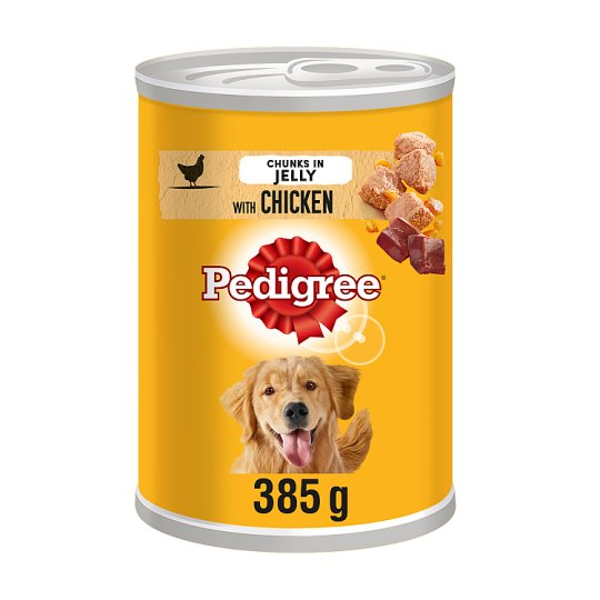 Pedigree Can Cuts In Jelly Chicken Tinned Dog Food 385G