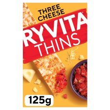 Ryvita 3 Cheese Thins 125G