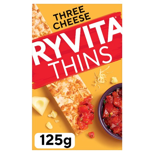 image 1 of Ryvita 3 Cheese Thins 125G