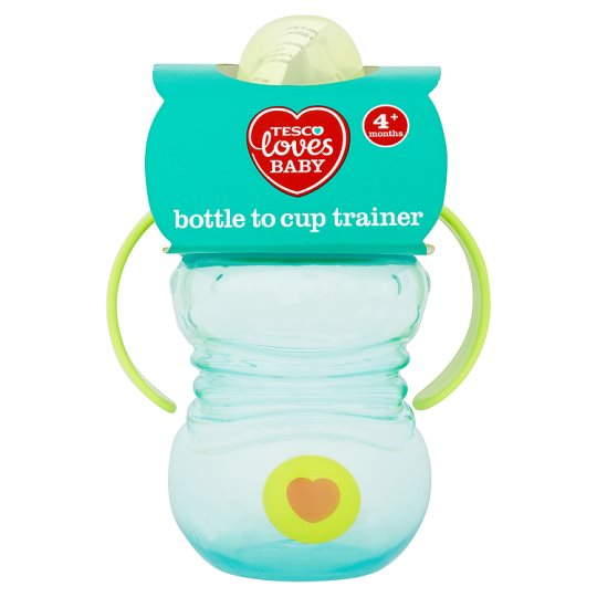Tesco Loves Baby Bottle To Cup Trainer Pink