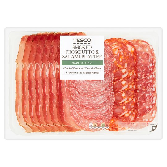 Tesco Smoked Prosciutto And Salami Plat 200G