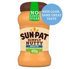 Sunpat Peanut Butter Smooth No Added Sugar 400G