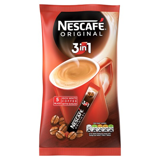 Nescafe Original 3 In 1 Instant Coffee 5 Sachets 85G