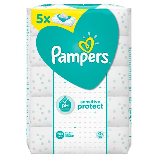 Pampers Sensitive Baby Wipes 5 Packs - 280 wipes