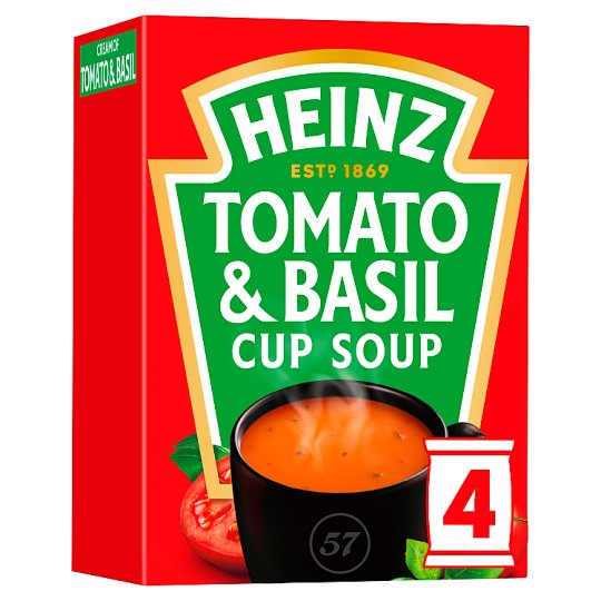 Heinz Tomato And Basil Cup Soup 4 Pack 88G