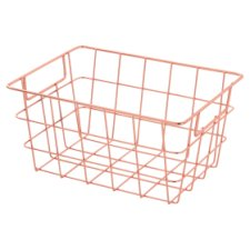 Tesco Wire Basket Small Rose Gold