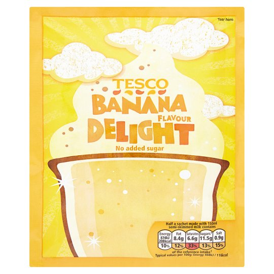 Tesco Delight Banana No Added Sugar 49G