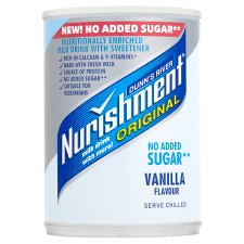 Nurishment Vanilla No Added Sugar 400G
