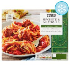 Tesco Spaghetti And Meatballs 400G