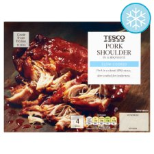 Tesco Pork Shoulder In Bbq Sauce 465G