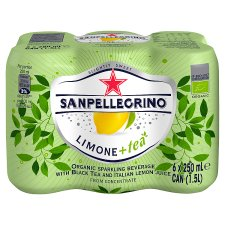 San Pellegrino Sparkling Black Tea And Lemon 6X250ml