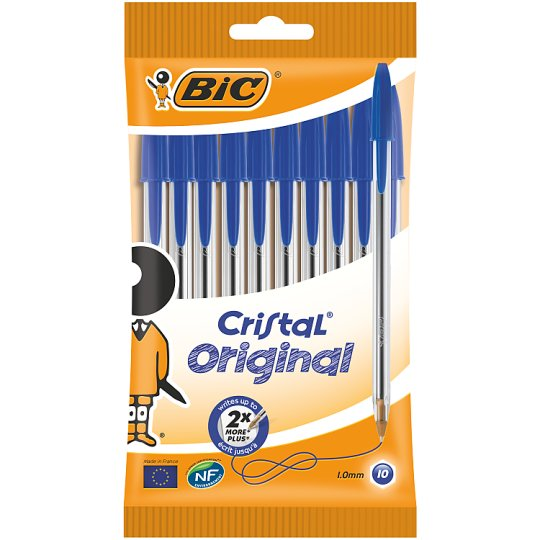 image 1 of Bic Cristal 10 Pack Blue