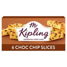 Mr Kipling Chocolate Chip Cake Slices 6 Pack
