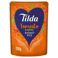 Tilda Sun Dried Tomato Steamed Basmati Rice 250G