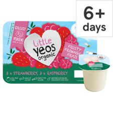 image 1 of Little Yeos Strawberry Raspberry Fromage Frais 6 X45g