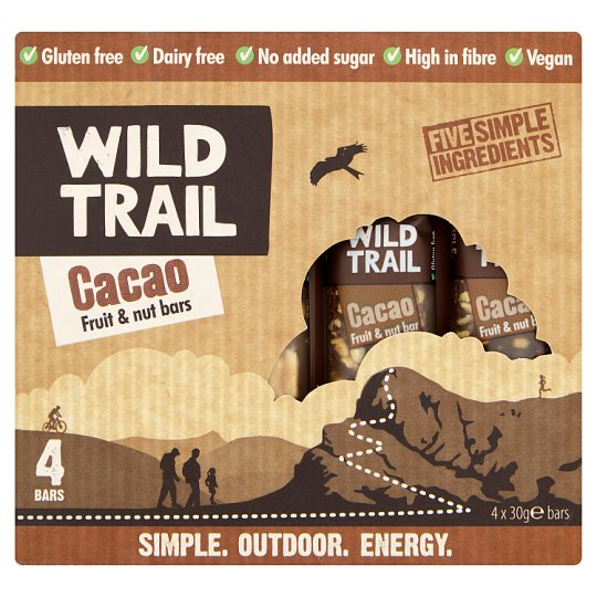 Wild Trail Raw Fruit And Nut Cacao 4X30g