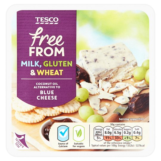 Tesco Free From Blue Cheese Alternative 200G
