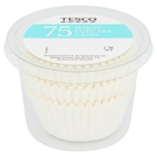 Tesco 75 White Cupcake Cases