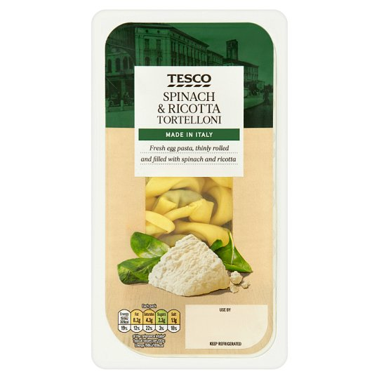 Tesco Single Serve Spinach And Ricotta Tortelloni 150G
