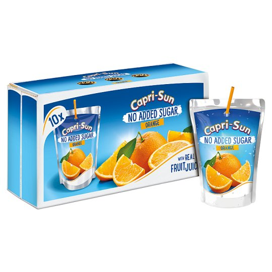 Capri Sun No Added Sugar Orange 10X200ml