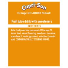 image 2 of Capri Sun No Added Sugar Orange 10X200ml