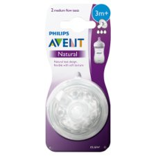 Philips Avent Natural 2.0 3M+ Teat (Med Flow)