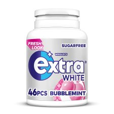 Wrigley Extra Bubblemint Gum Bottle 46 Pieces