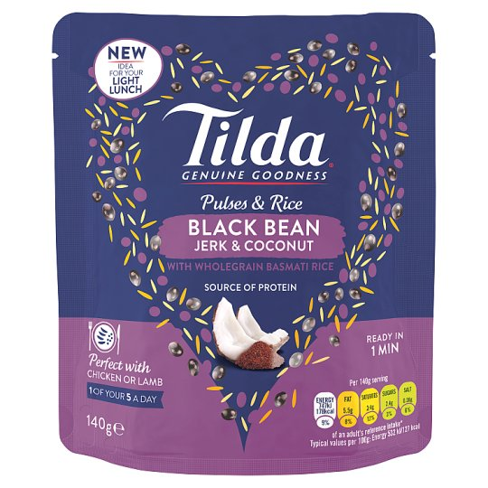image 1 of Tilda Pulses And Rice Black Bean Jerk 140G
