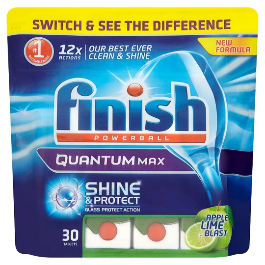 Finish Quantum Apple And Lime 30 Dishwasher Tablets