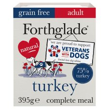 Forthglade Grain Free Turkey And Vegetable Dog Tray 395G