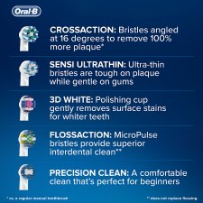 image 2 of Oral-B Cross Action Replacement Electric Toothbrush Heads 5