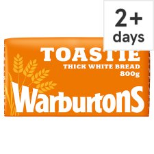 Warburtons Toastie Sliced White Bread 800G