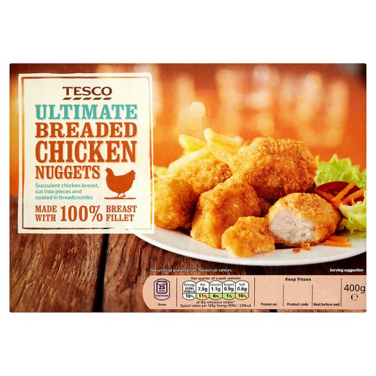 Tesco Ultimate Breaded Chicken Nuggets 400G