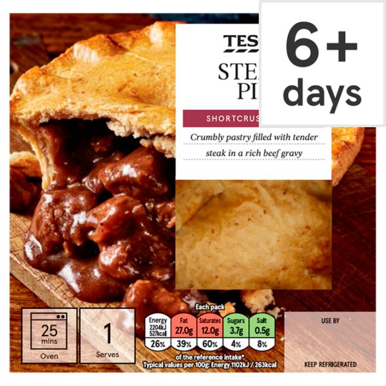 Tesco Steak Shortcrust Pie 200G