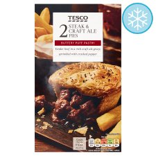 Tesco 2 Steak And Craft Ale Pies 440G