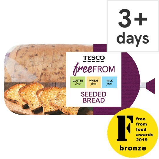 Tesco Free From Sliced Seeded Bread 550G