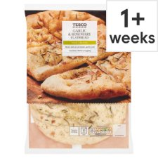 Tesco Garlic And Rosemary All Butter Flatbread 220G