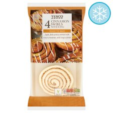Tesco 4 Cinnamon Swirls With 370G