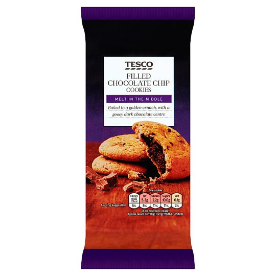Tesco Filled Chocolate Chip Cookies 200G