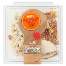 Tesco Flamegrilled Chicken And Bacon Pasta 300G
