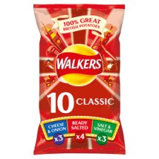 Walkers Classic Variety Crisps 10 X 25G