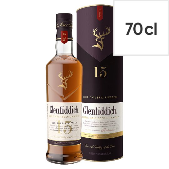 Glenfiddich 15 Year Old Single Malt Scotch Whisky 70Cl