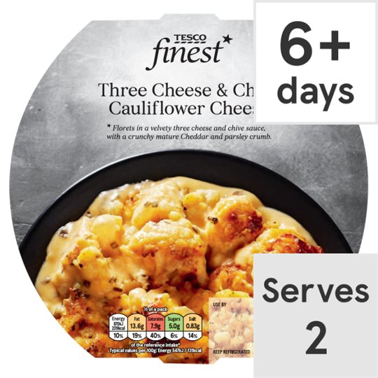 Tesco Finest Cauliflower Cheese 350G