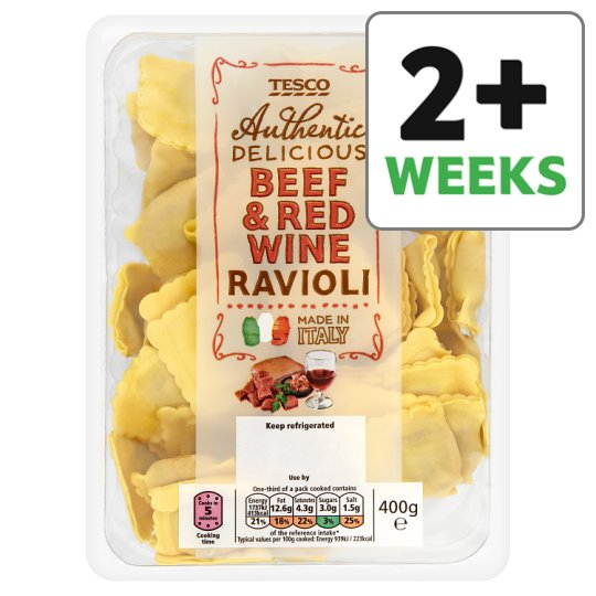 Tesco Beef And Red Wine Ravioli 400G